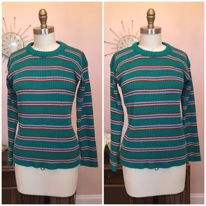 Vintage Hewlett Knit Striped Sweater
